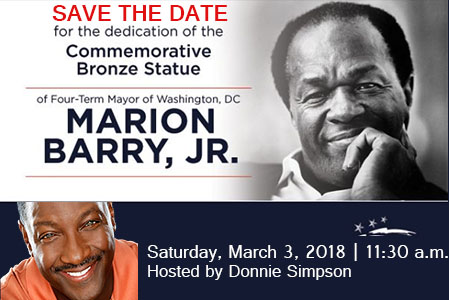 Dedication of the Commemorative Statue of former Mayor Marion Barry, Jr.