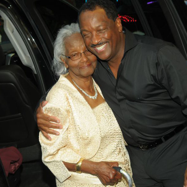 Donnie with his mom, Dorothy Simpson
