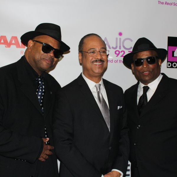 Tony Perkins with Jimmy Jam and Terry Lewis at 40th Anniversary Celebration.