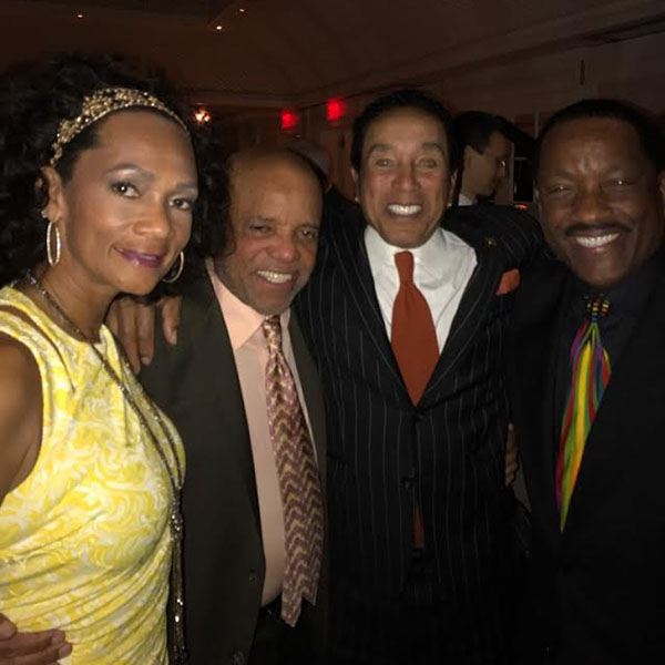 Donnie with wife, Pam, Berry Gordy and Smokey Robinson