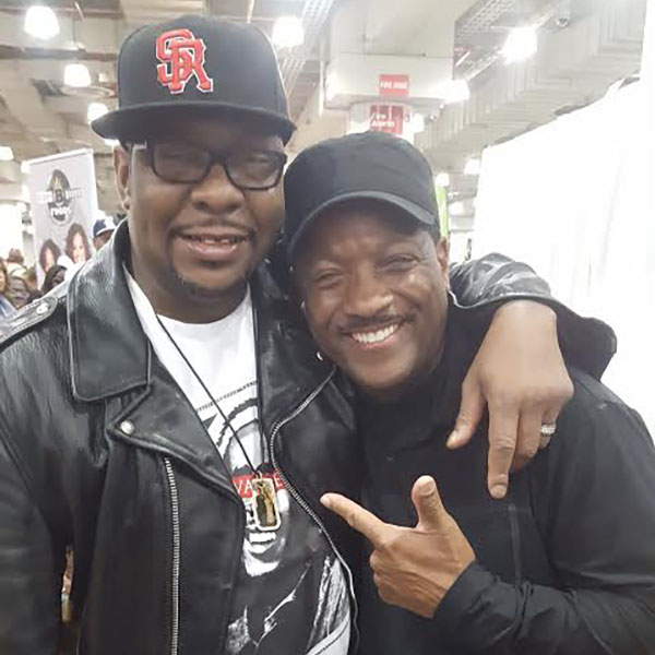 Donnie with Bobby Brown