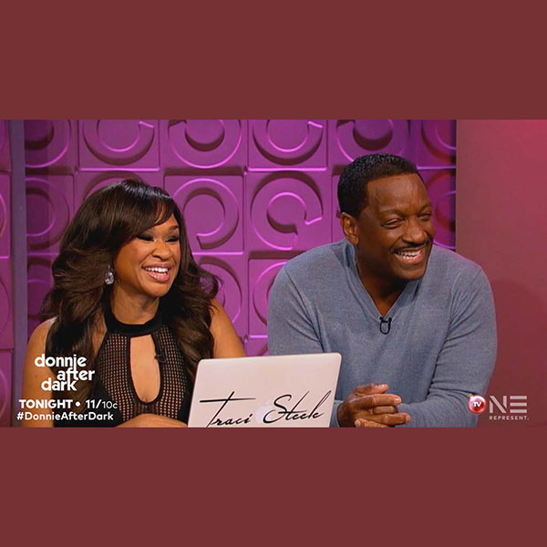Donnie Simpson with co-host Traci Steele on Donnie After Dark